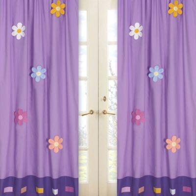 Sweet Jojo Designs Danielle's Daisies Window Panel Pair