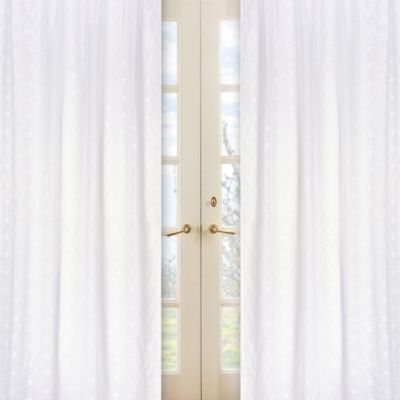 Eyelet Window Panel Pair in White
