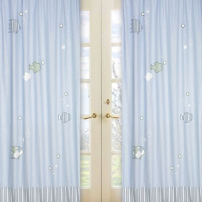 Sweet Jojo Designs Go Fish 84-Inch Window Panels