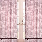 Sweet Jojo Designs French Toile and Polka Dot Window Panel Pair in Pink/Brown