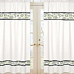 Sweet Jojo Designs Spirodot 42-Inch x 84-Inch Window Panels in Lime/Black
