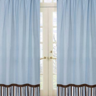 Sweet Jojo Designs Starry Night 42-Inch x 84-Inch Window Panels in Blue
