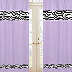 Sweet Jojo Designs Funky Zebra Window Panel Pair in Purple