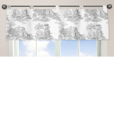 Sweet Jojo Designs French Toile Window Valance in Black/Cream