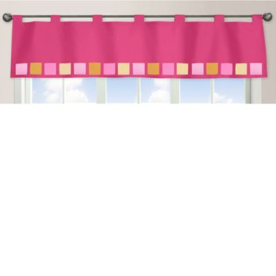 Sweet Jojo Designs Pink and Orange Butterfly Window Valance