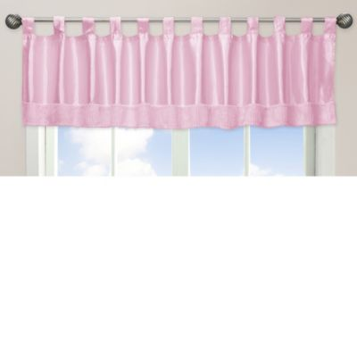 Sweet Jojo Designs Pink Chenille and Satin Window Valance