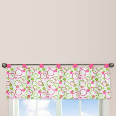Sweet Jojo Designs Mod Circles Window Valance in Pink/Green