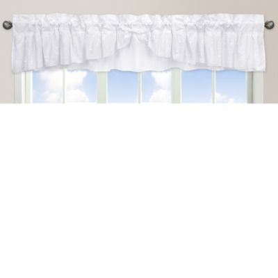 Sweet Jojo Designs Eyelet Window Valance in White