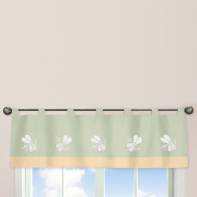 Sweet Jojo Designs Dragonfly Dreams Window Valance in Green