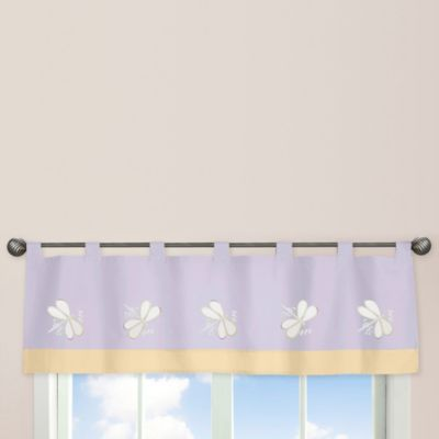 Sweet Jojo Designs Dragonfly Dreams Window Valance in Purple
