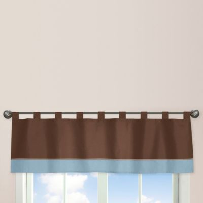 Sweet Jojo Designs Soho Window Valance in Blue/Brown