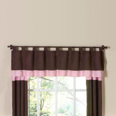Sweet Jojo Designs Soho Window Valance in Pink/Brown