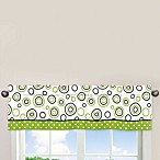 Sweet Jojo Designs Spirodot 54-Inch x 15-Inch Window Valance in Lime and Black