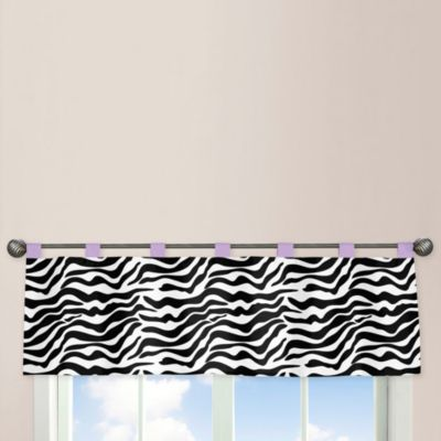 Sweet Jojo Designs Funky Zebra Window Valance in Purple