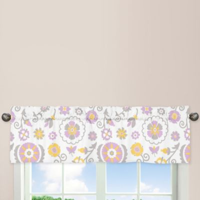 Sweet Jojo Designs Suzanna Dreams Window Valance in Lavender/White