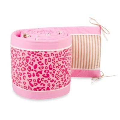 Pam Grace Creations Tabby Cheetah Crib Bumper