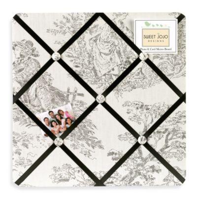 Sweet Jojo Designs French Toile Memory Board in Black/Cream