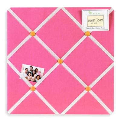 Sweet Jojo Designs Pink and Orange Butterfly Memo Board