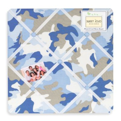 Sweet Jojo Designs Camo Memo Board in Blue