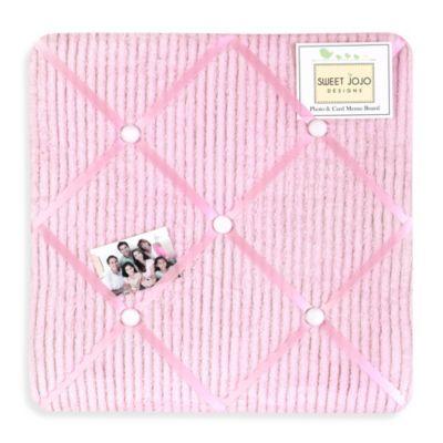 Sweet Jojo Designs Pink Chenille and Satin Memo Board
