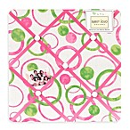Sweet Jojo Designs Mod Circles Fabric Memo Board in Pink/Green