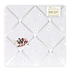 Sweet Jojo Designs Eyelet Fabric Memo Board in White
