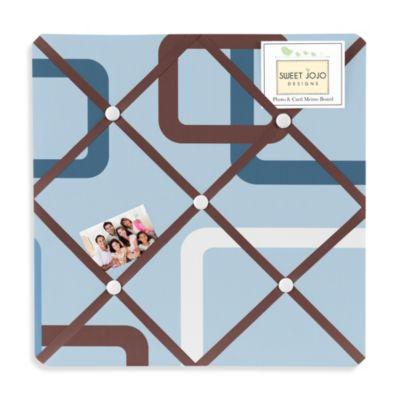Sweet Jojo Designs Geo Memo Board in Blue/Brown