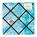 Sweet Jojo Designs Peace Out Fabric Memo Board in Blue