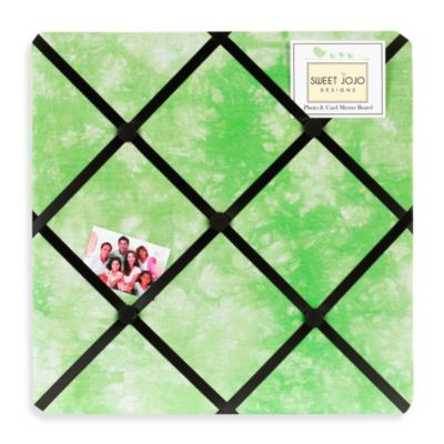 Sweet Jojo Designs Peace Out Fabric Memo Board in Green