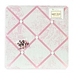 Sweet Jojo Designs Toile Fabric Memo Board in Pink