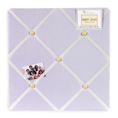 Sweet Jojo Designs Dragonfly Dreams Fabric Memo Board in Purple
