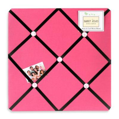 Sweet Jojo Designs Soccer Fabric Memo Board in Pink