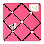 Sweet Jojo Designs Soccer Fabric Memo Board in Pink