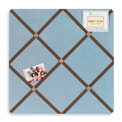Sweet Jojo Designs Soho Fabric Memo Board in Blue/Brown