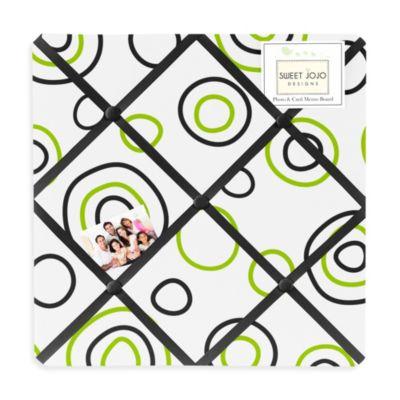 Sweet Jojo Designs Spirodot Memo Board in Lime/Black