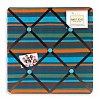 Sweet Jojo Designs Surf Fabric Memo Board in Blue/Brown