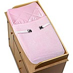 Sweet Jojo Designs Pink Chenille and Satin Changing Pad Cover