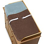 Sweet Jojo Designs Soho Changing Pad Cover in Blue/Brown