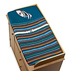 Sweet Jojo Designs Surf Changing Pad Cover in Blue/Brown