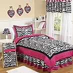Sweet Jojo Designs Funky Zebra Comforter Set in Pink