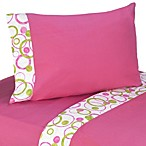 Sweet Jojo Designs Mod Circles Sheet Set in Pink/Green