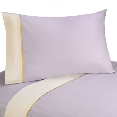 Sweet Jojo Designs Dragonfly Dreams Twin 4-Piece Sheet Set in Purple