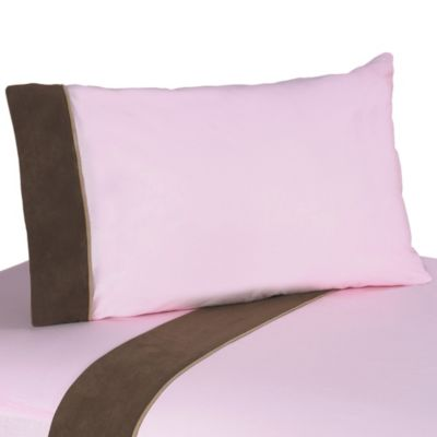 Sweet Jojo Designs Soho Sheet Set in Pink/Brown