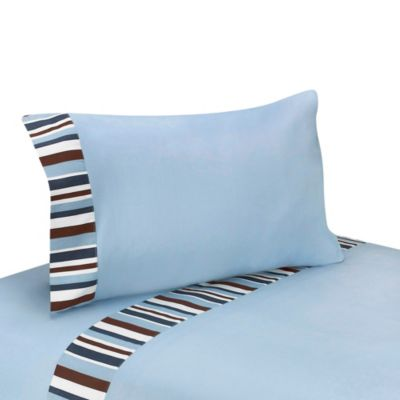 Sweet Jojo Designs Starry Night Twin/Queen Sheet Collection in Blue/Brown