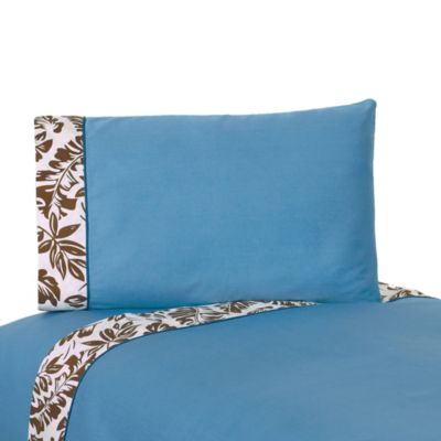 Sweet Jojo Designs Surf Twin Sheet Set in Blue/Brown