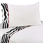Sweet Jojo Designs Funky Zebra Sheet Set in Pink