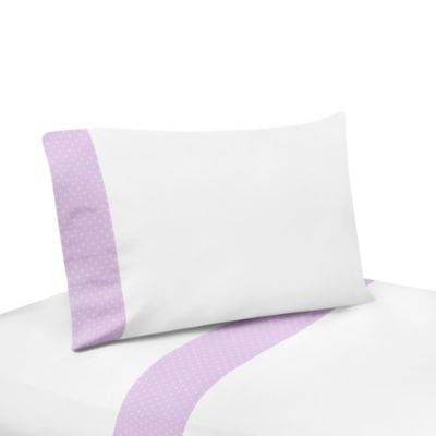 Sweet Jojo Designs 3-Piece Suzanna Twin Sheet Set in Lavender/White