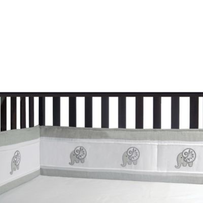 New Country Home Elephant Chic 4-Piece Crib Bumper