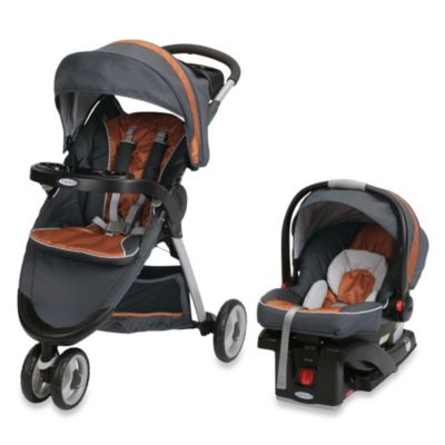 Graco® FastAction™ Fold Sport Click Connect™Travel System in Tangerine™
