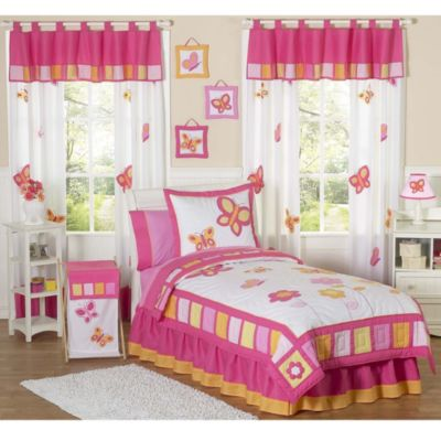 Pink Butterfly Bedding Set
